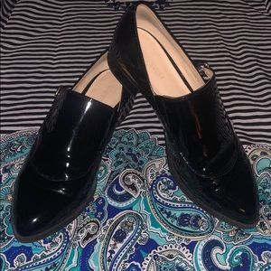 Nine West Nyessa Black Patent Loafers WITH FLAW